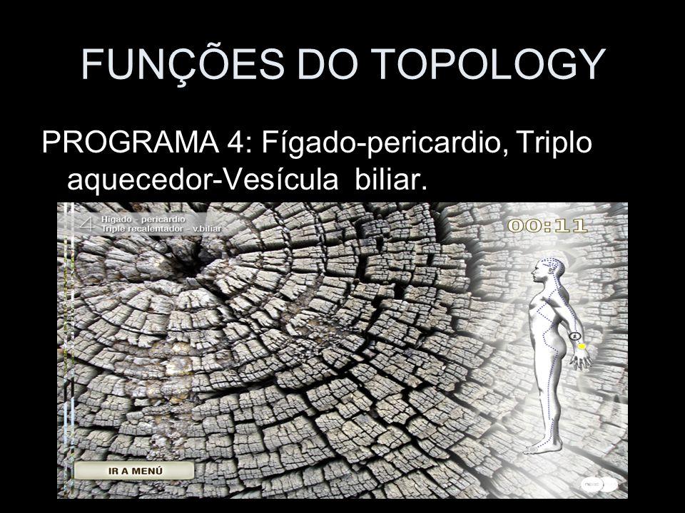 FUNÇÕES DO TOPOLOGY PROGRAMA 4: Fígado-pericardio, Triplo aquecedor-Vesícula biliar.