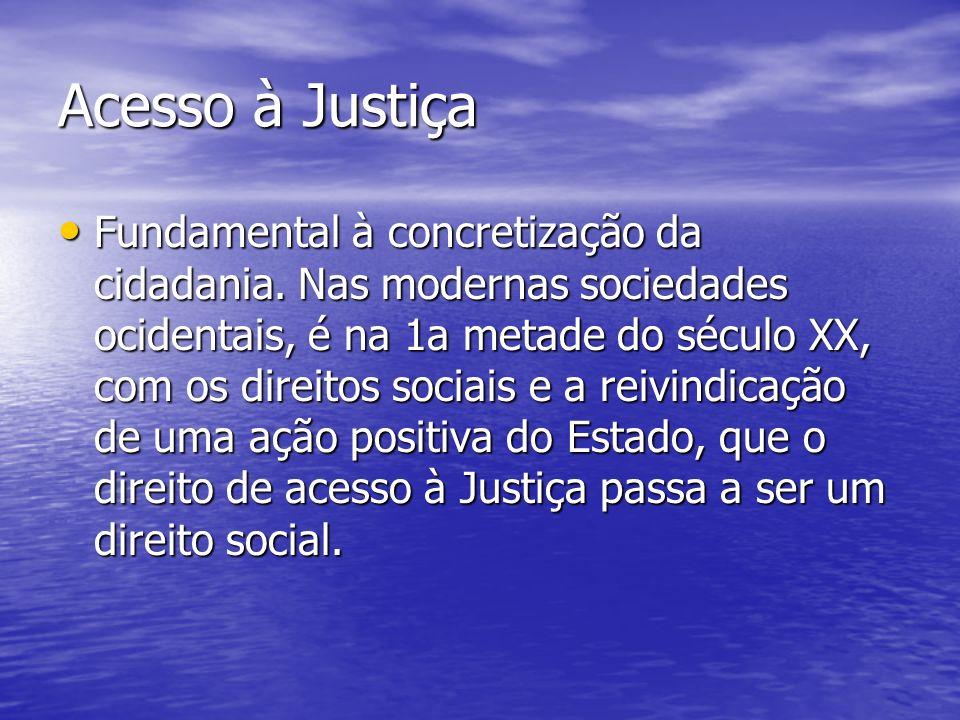 Acesso à Justiça Fundamental à concretização da cidadania.