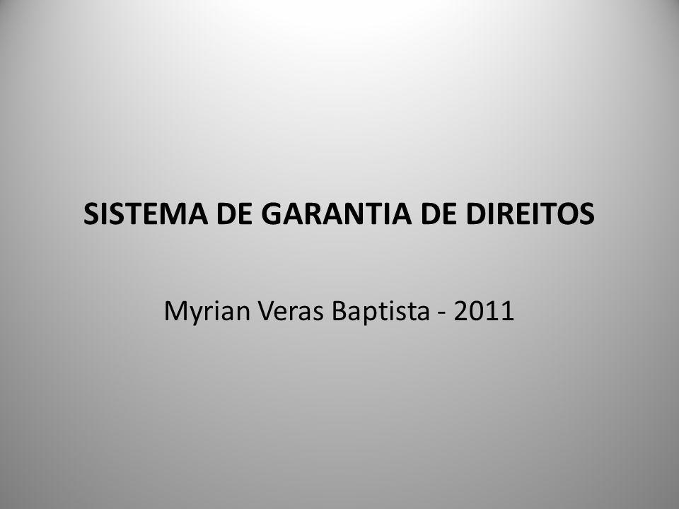 SISTEMA DE GARANTIA DE DIREITOS Myrian Veras Baptista - 2011