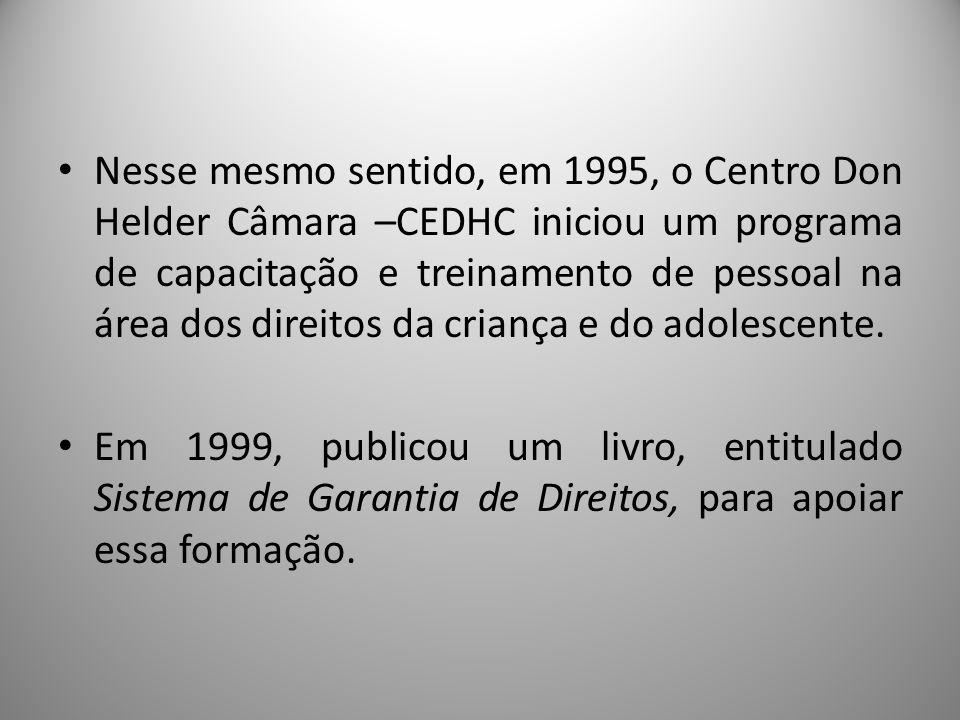 CONANDA/SEDH: Resolução nº 113 de abril de 2006 Parâmetros para a institucionalização e fortalecimento do Sistema de Garantia dos Direitos da Criança e do Adolescente