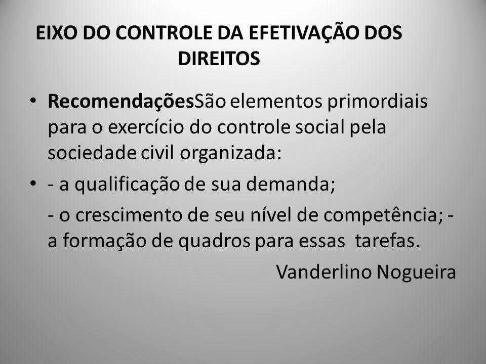 PROPOSTA DE NOVOS EIXOS 4- Eixo da instituição dos direitos das crianças e dos adolescentes 5- Eixo da comunicação e disseminação dos direitos