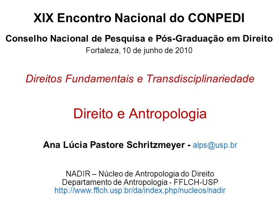 XIX Encontro Nacional do CONPEDI Conselho Nacional de Pesquisa e Pós-Graduação em Direito Fortaleza, 10 de junho de 2010 Direitos Fundamentais e Trans