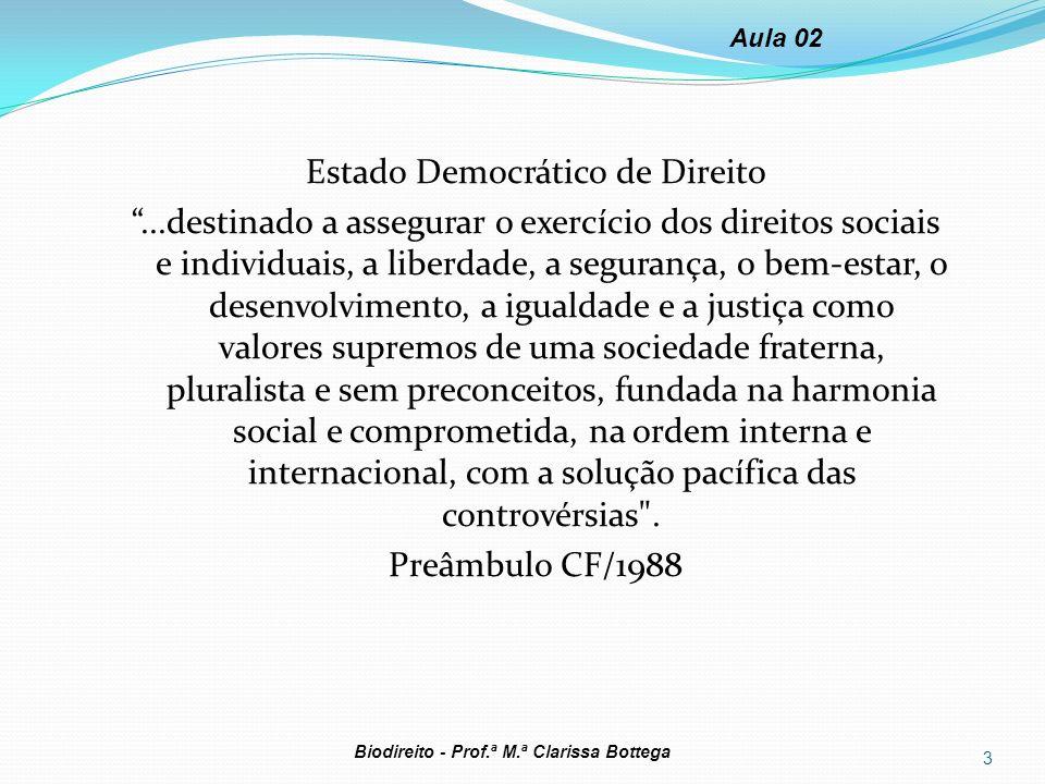 Estado Democrático de Direito...destinado a assegurar o exercício dos direitos sociais e individuais, a liberdade, a segurança, o bem-estar, o desenvo