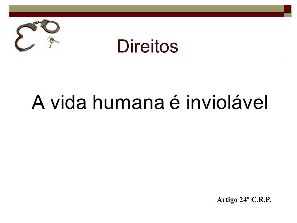 Direitos A vida humana é inviolável Artigo 24º C.R.P.