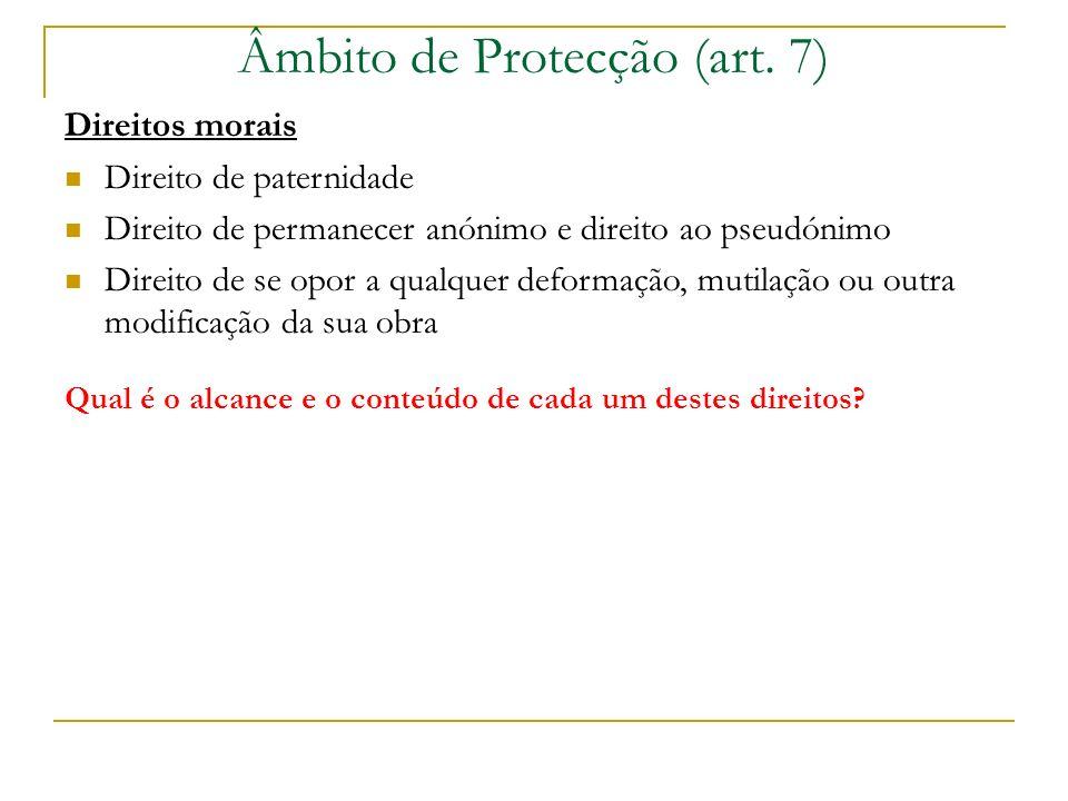 Âmbito de Protecção (art.