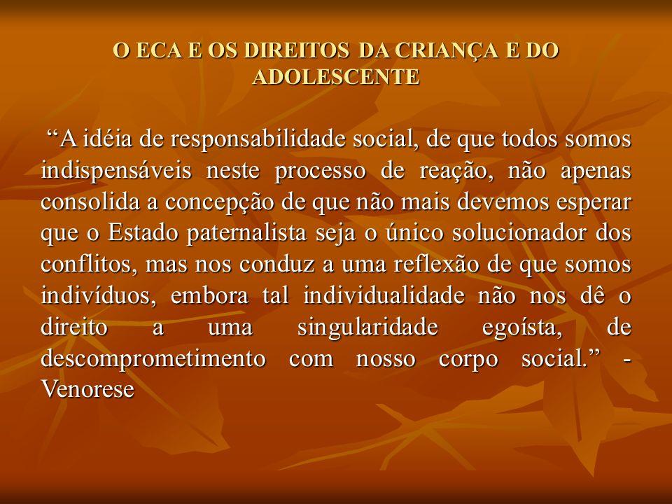 O ECA E OS DIREITOS DA CRIANÇA E DO ADOLESCENTE Enquanto isso nos abrigos...