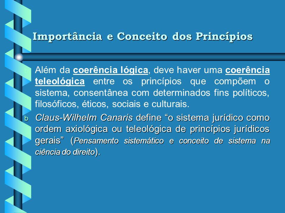 Importância dos Princípios do Direito do Constitucional do Trabalho b b Coerência interna de um sistema jurídico. b b Operacionalização do sistema e a