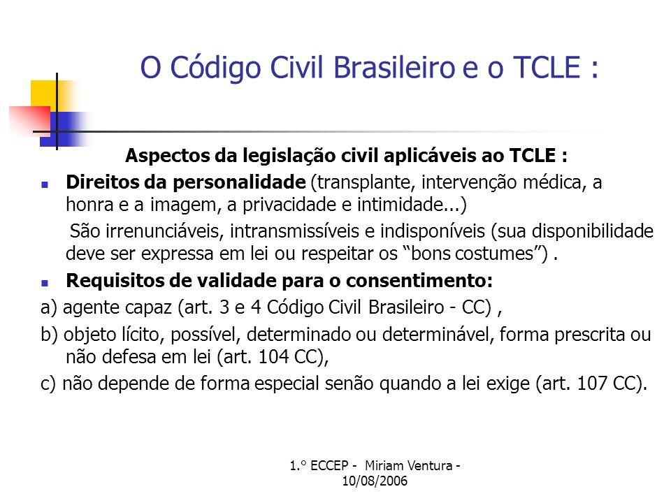 1.° ECCEP - Miriam Ventura - 10/08/2006 Consentimento informado e Consentimento livre e esclarecido O termo de consentimento informado surge como obrigação do médico ou do pesquisador de revelar a informação.