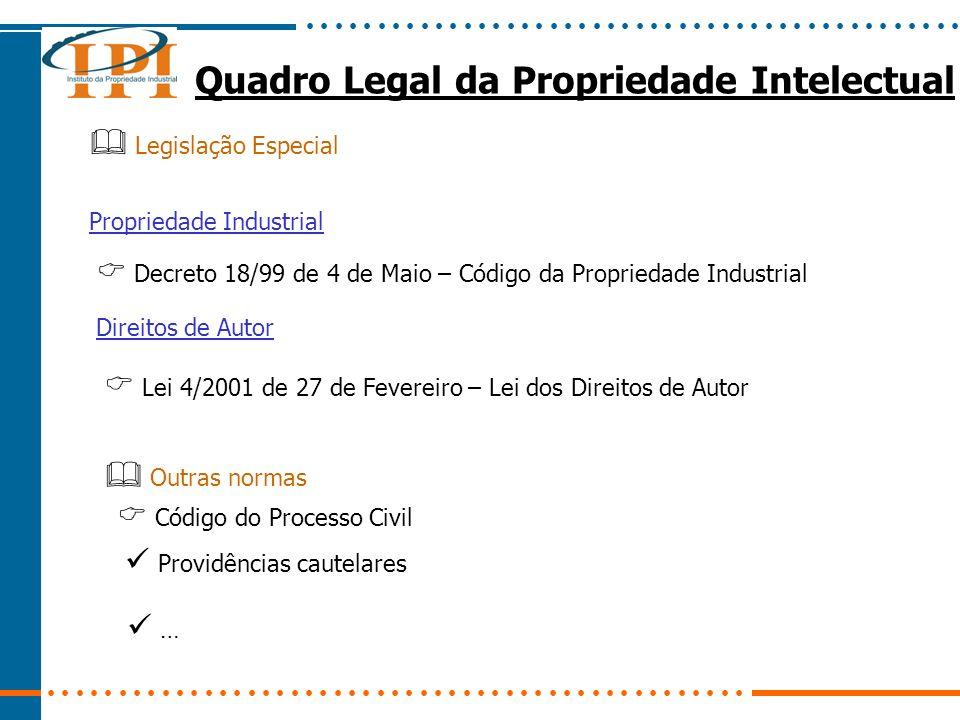 Quadro Legal da Propriedade Intelectual Código Penal Art.
