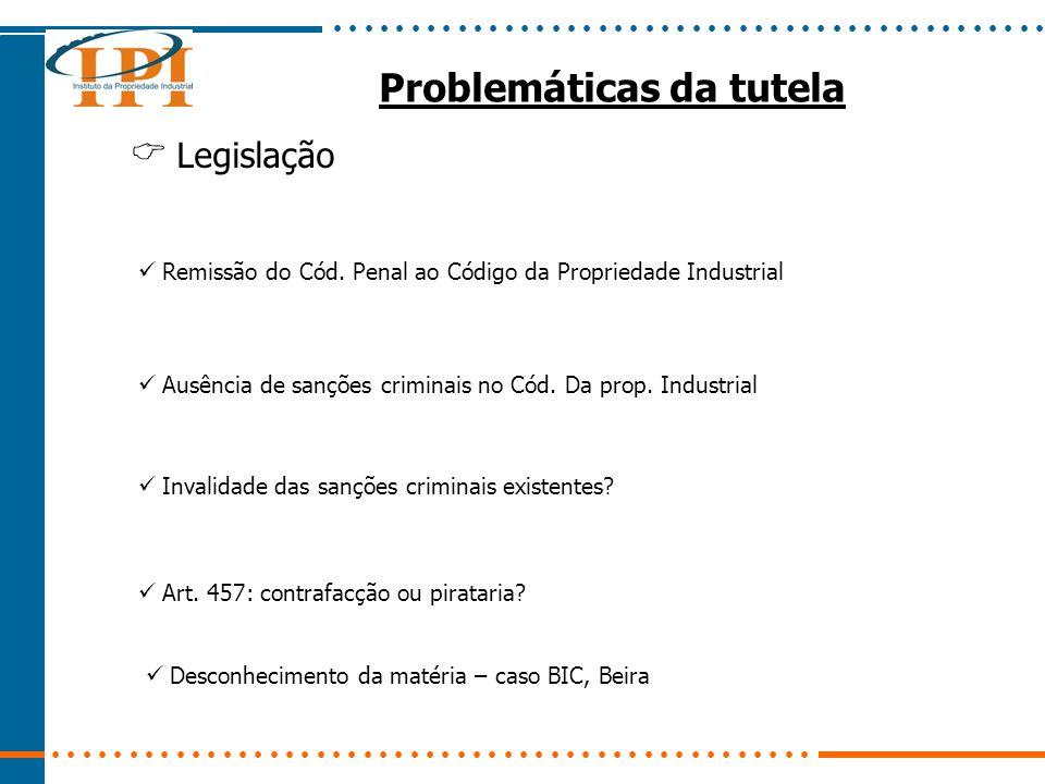 Problemáticas da tutela Legislação Remissão do Cód.