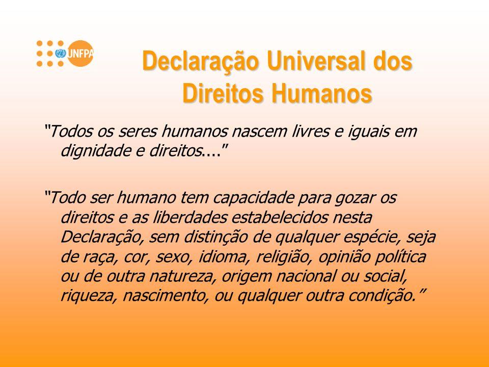 Declaração Universal dos Direitos Humanos Todos os seres humanos nascem livres e iguais em dignidade e direitos.... Todo ser humano tem capacidade par