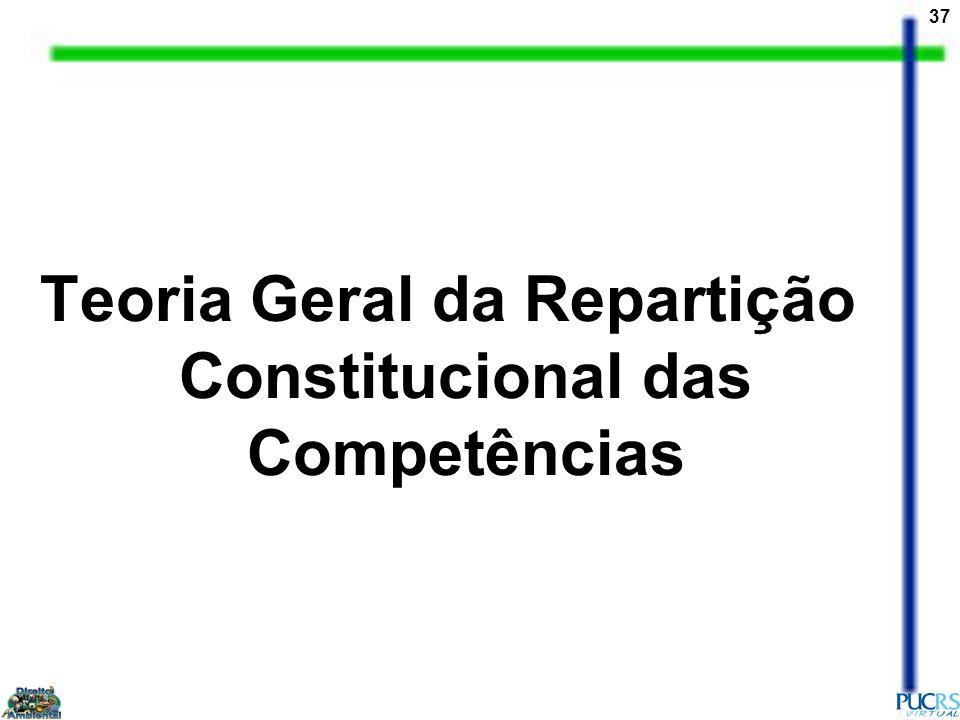 37 Teoria Geral da Repartição Constitucional das Competências