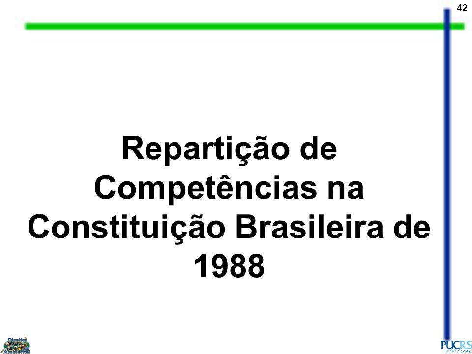 42 Repartição de Competências na Constituição Brasileira de 1988