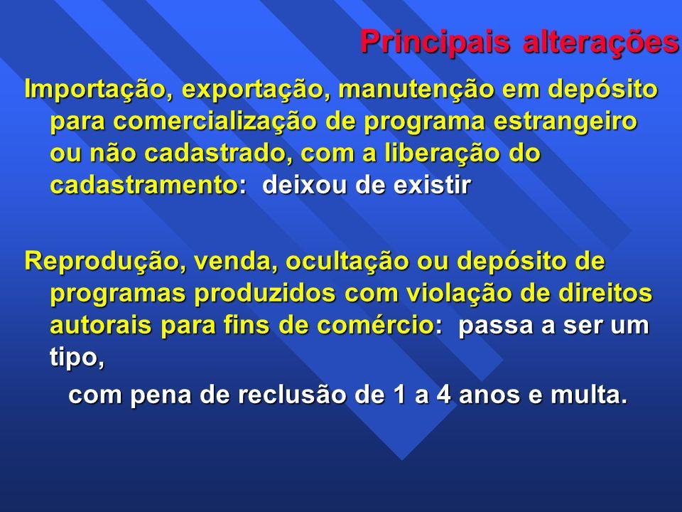 Importação, exportação, manutenção em depósito para comercialização de programa estrangeiro ou não cadastrado, com a liberação do cadastramento: deixo