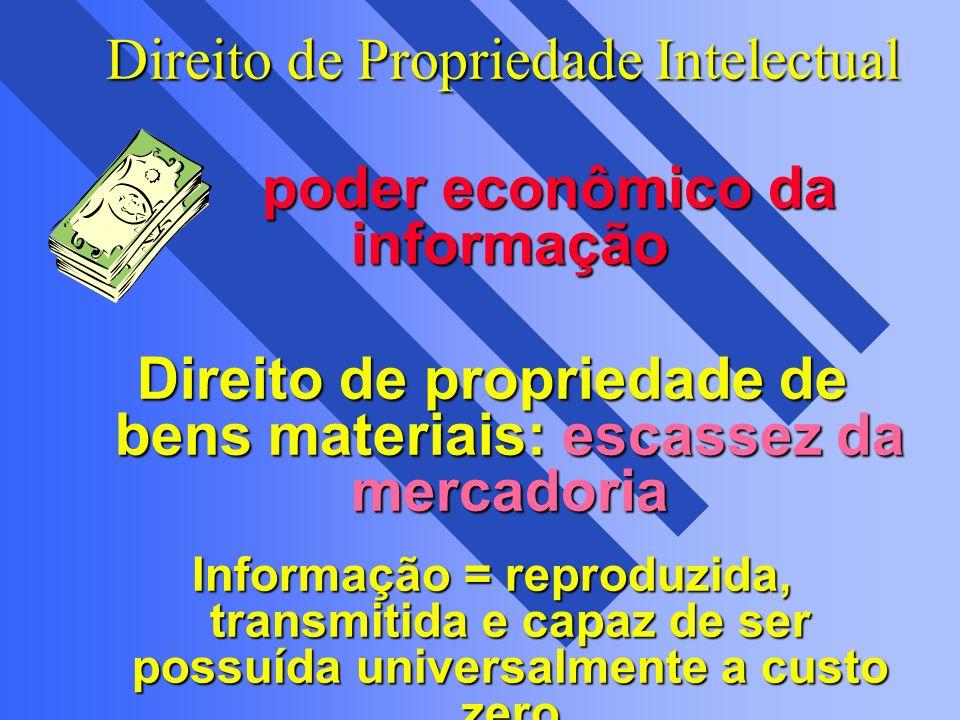 Direito de Propriedade Intelectual Direito de Propriedade Intelectual poder econômico da informação poder econômico da informação Direito de proprieda