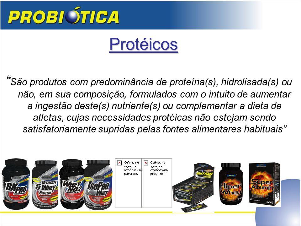 Protéicos São produtos com predominância de proteína(s), hidrolisada(s) ou não, em sua composição, formulados com o intuito de aumentar a ingestão des
