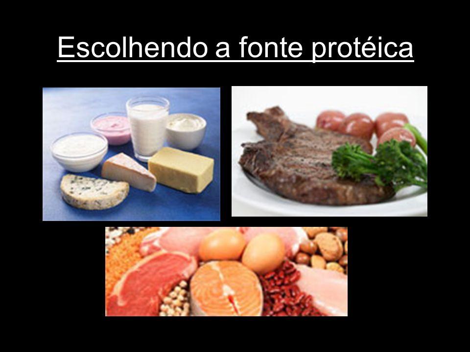 Escolhendo a fonte protéica