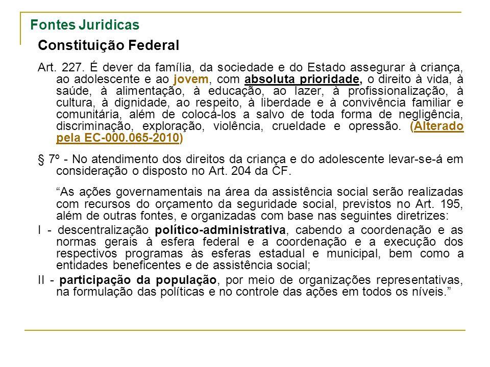 Fontes Juridicas Constituição Federal Art.227.