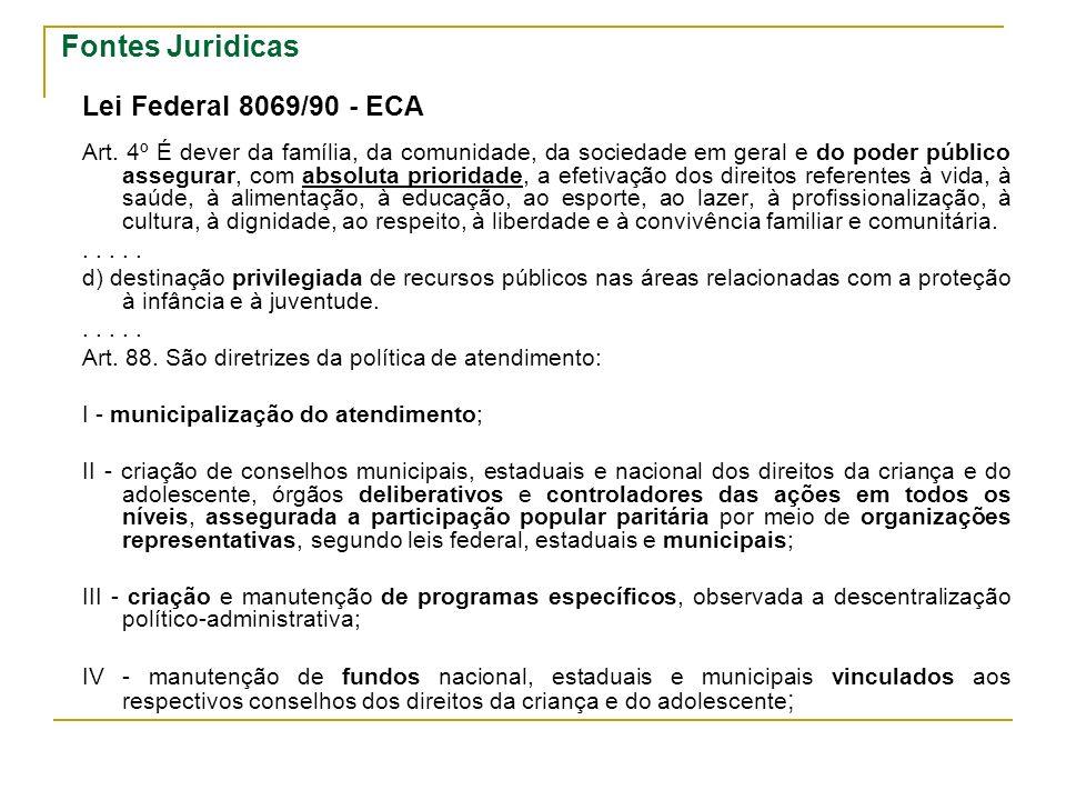 Fontes Juridicas Lei Federal 8069/90 - ECA Art.