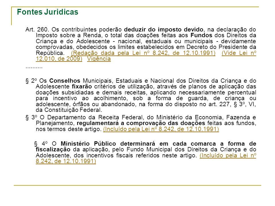 Fontes Juridicas Art.260.