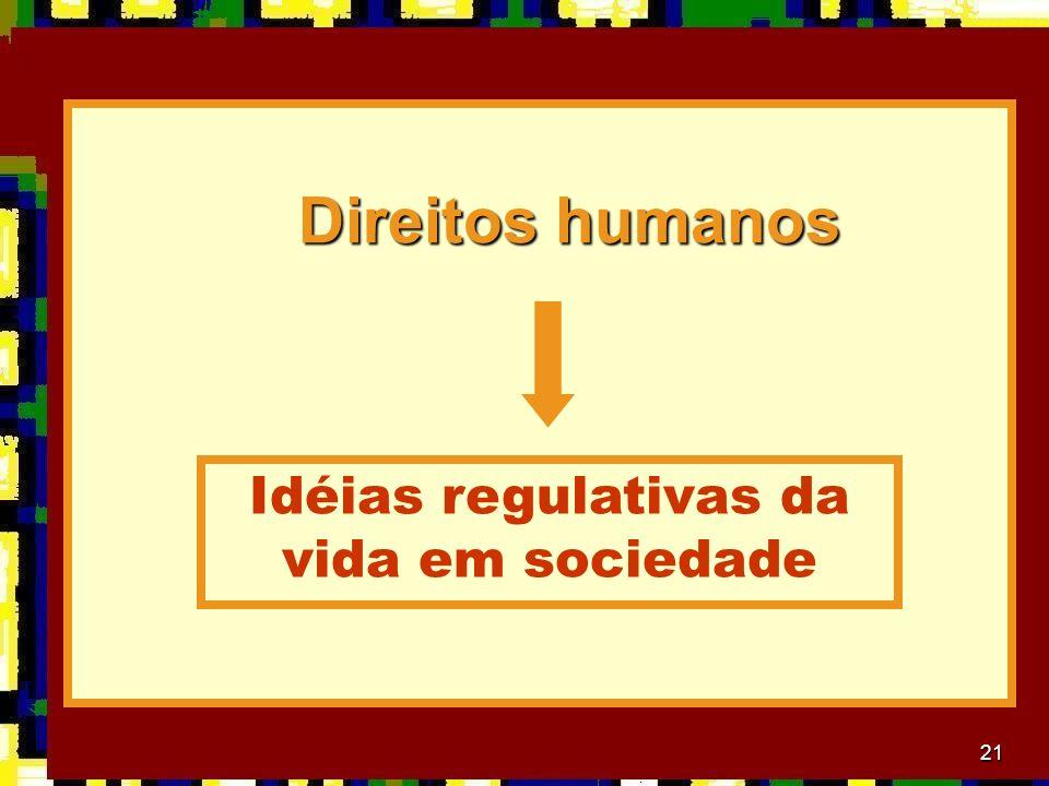21 Direitos humanos Direitos humanos Idéias regulativas da vida em sociedade