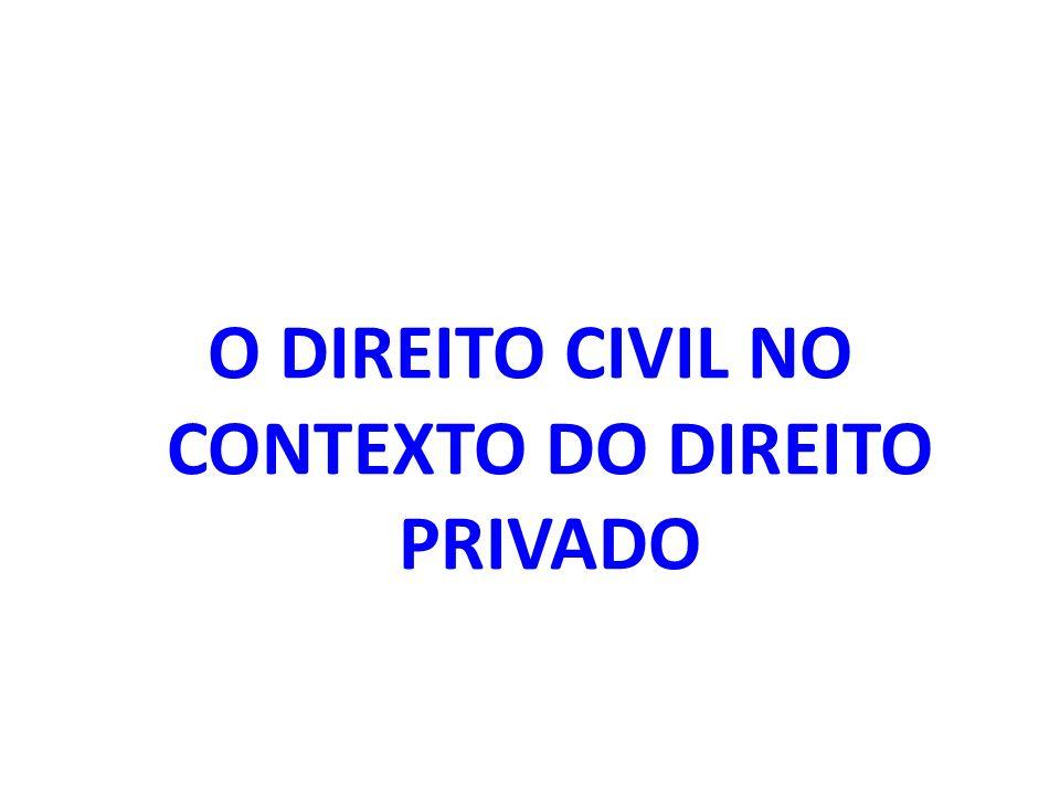 O DIREITO CIVIL NO CONTEXTO DO DIREITO PRIVADO