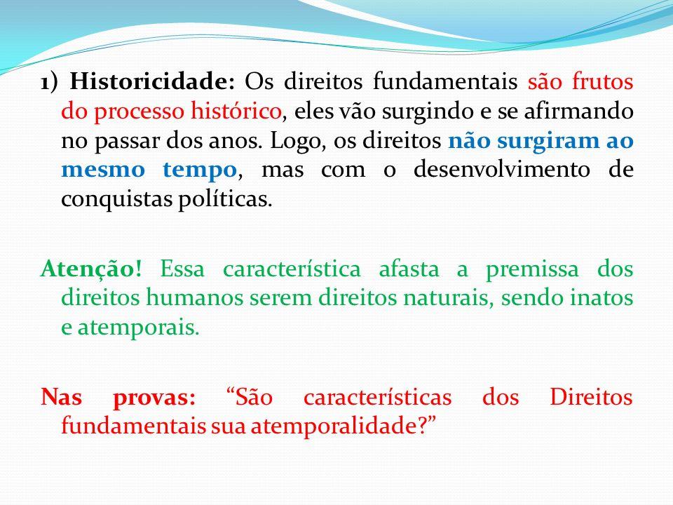 As dimensões (gerações) A maior parte da doutrina enumera 3 grandes gerações ou dimensões dos direitos fundamentais.