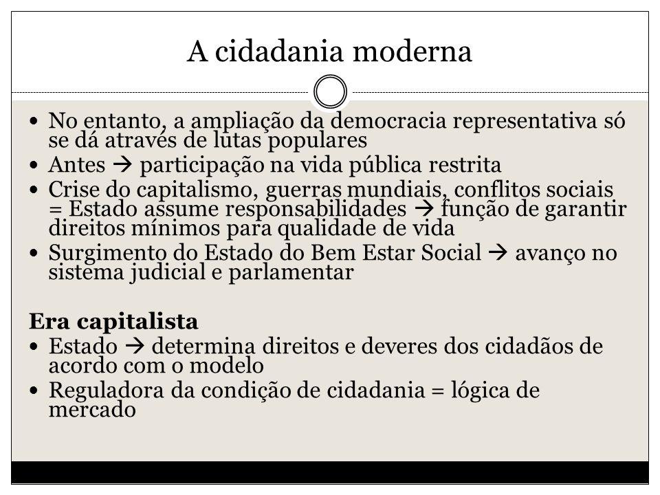 A cidadania moderna Direitos da Cidadania Marshall 1a.