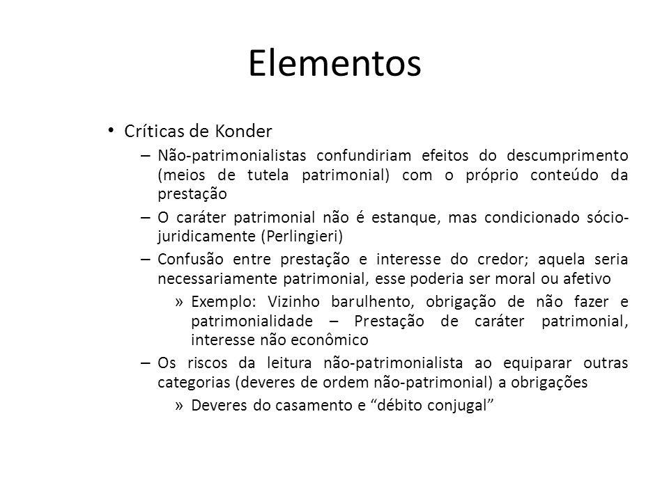 Elementos Críticas de Konder – Não-patrimonialistas confundiriam efeitos do descumprimento (meios de tutela patrimonial) com o próprio conteúdo da pre