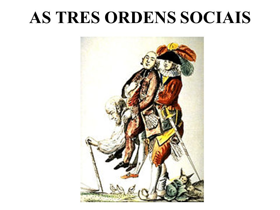AS TRES ORDENS SOCIAIS