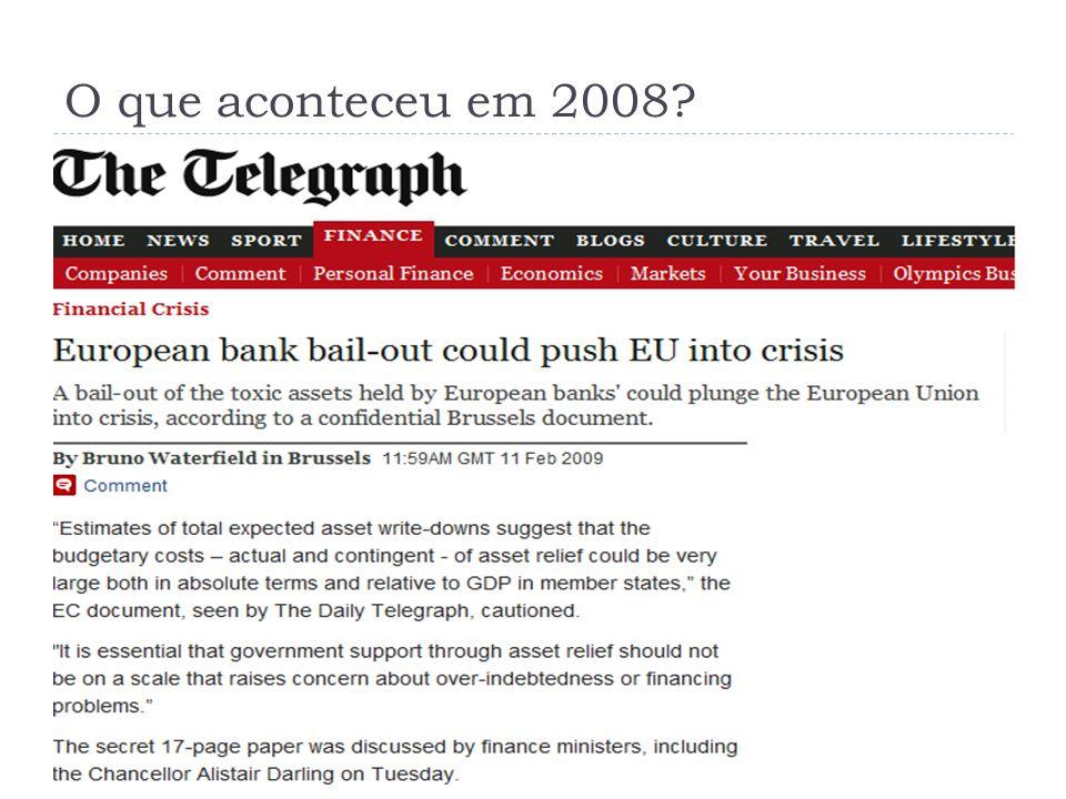 O que aconteceu em 2008?