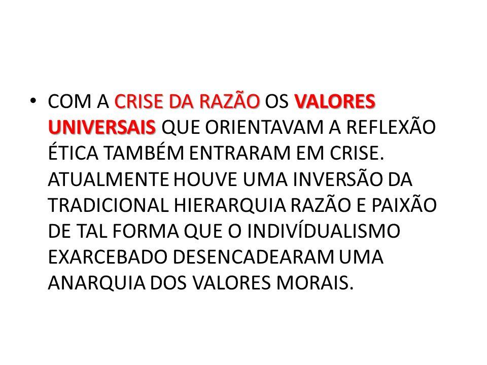 A NECESSIDADE DE LEVAR VANTAGEM INTERFERE NAS RELAÇÕES INTERPESSOAIS.