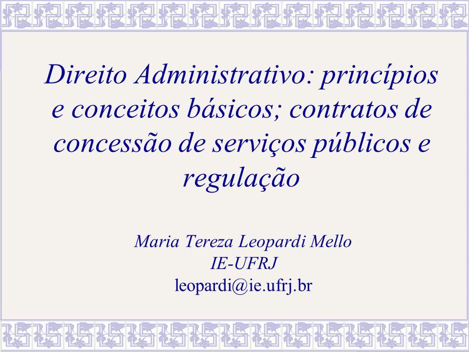 MTereza Leopardi Mello - IE/UFRJ12 Requisitos de validade do ato administrativo Competência – autoridade capaz de praticá-lo; Forma – decreto, resolução, portaria etc.