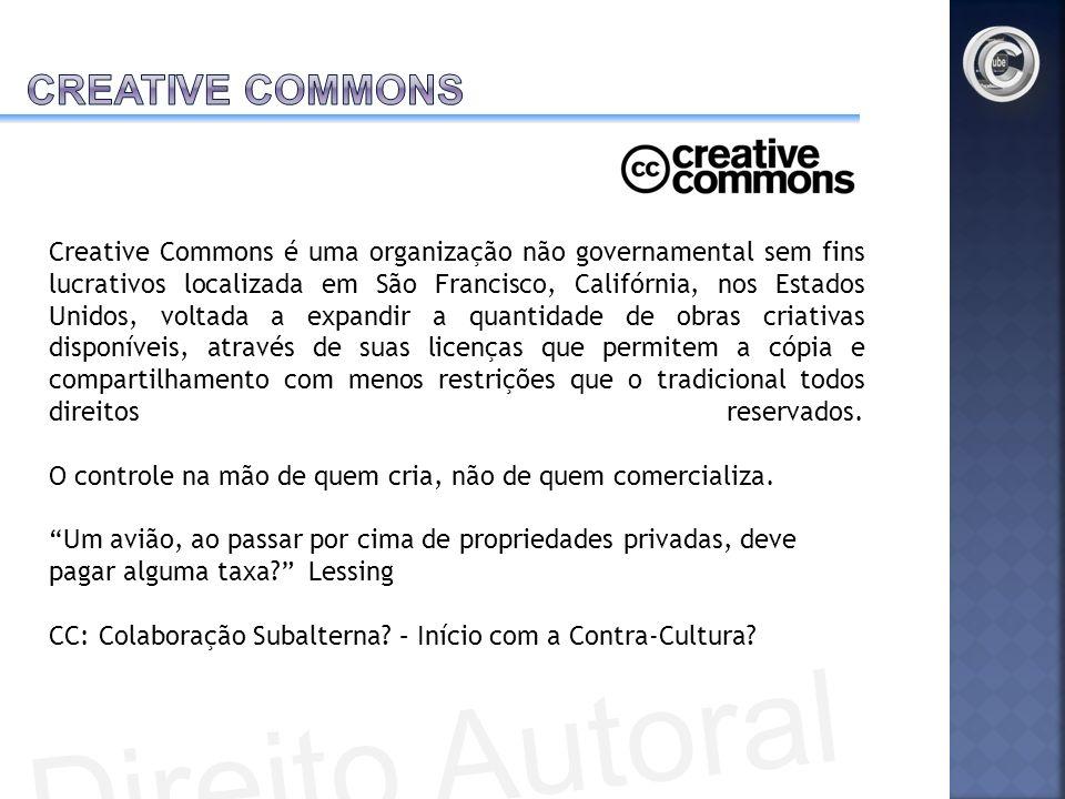 Creative Commons é uma organização não governamental sem fins lucrativos localizada em São Francisco, Califórnia, nos Estados Unidos, voltada a expand
