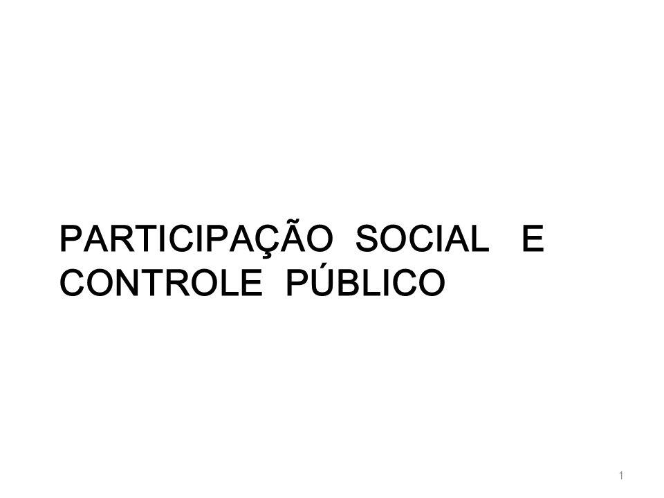 PARTICIPAÇÃO SOCIAL E CONTROLE PÚBLICO 1