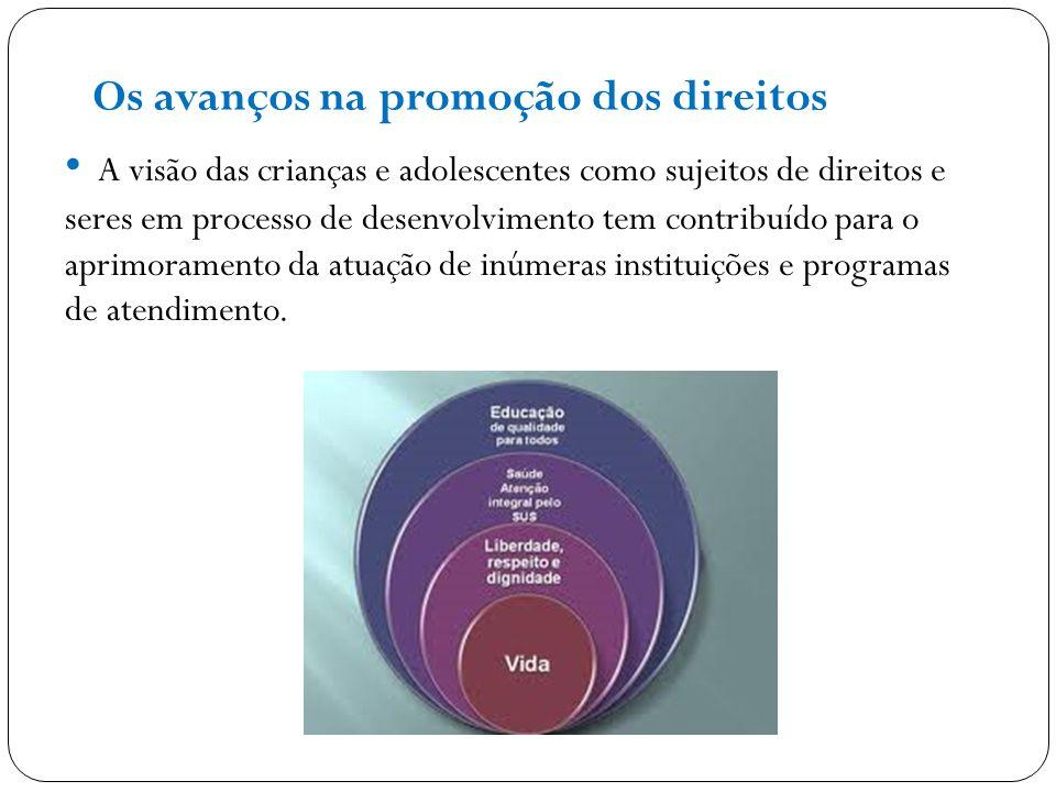A visão das crianças e adolescentes como sujeitos de direitos e seres em processo de desenvolvimento tem contribuído para o aprimoramento da atuação d