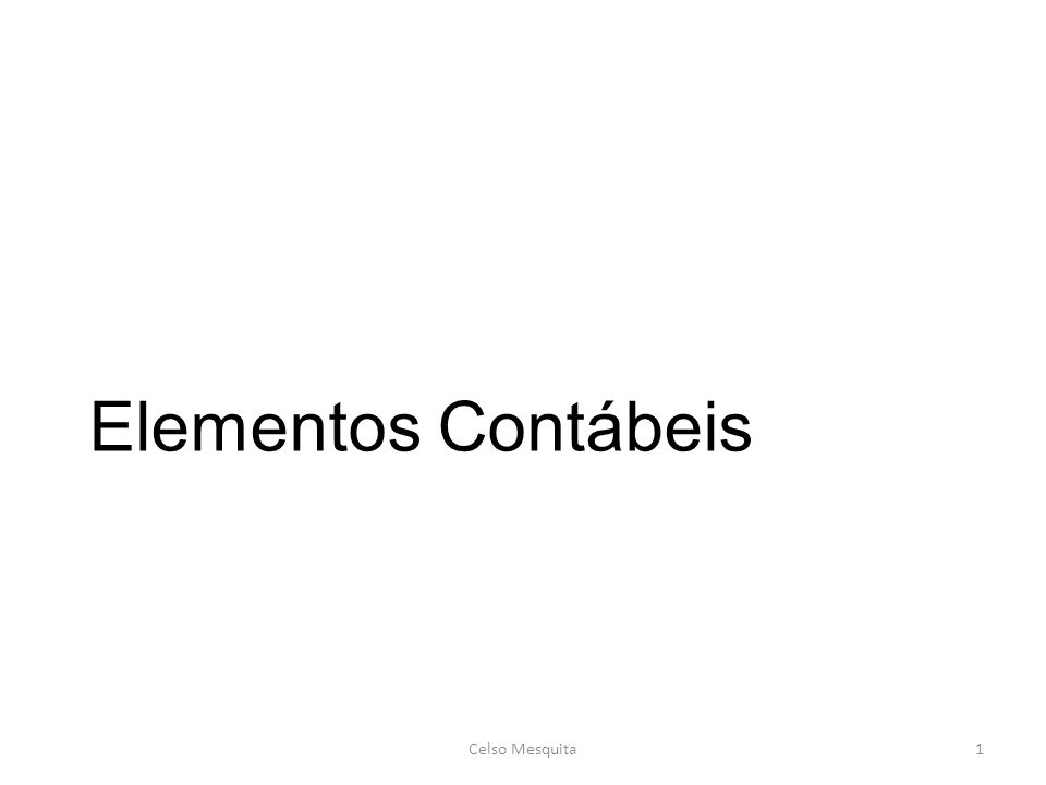 Elementos Contábeis Celso Mesquita1