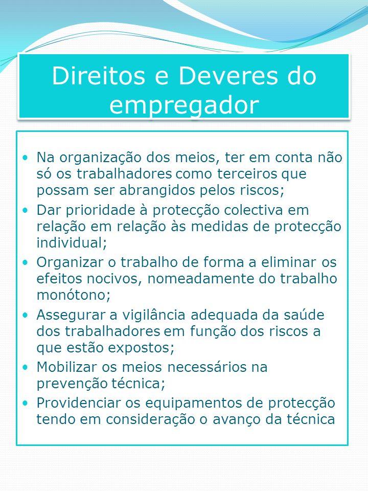 Na organização dos meios, ter em conta não só os trabalhadores como terceiros que possam ser abrangidos pelos riscos; Dar prioridade à protecção colec