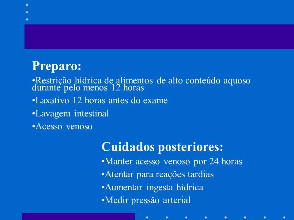Indicação: IRA / IRC Infecção urinária Obstrução urinária Diagnóstico e avaliação de tumores Hematúria total