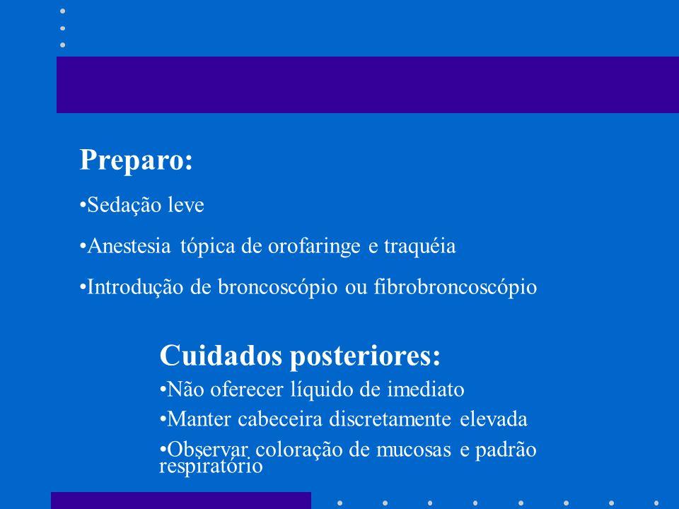 Indicação: Estudos da traquéia, carina, brônquios principais e brônquios segmentares
