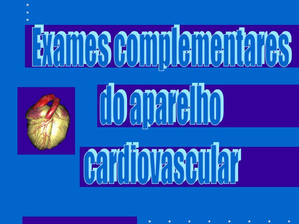 INDICAÇÃO: Permite a avaliação de pericardite, derrame pericárdico, calcificação coronariana, anomalias de arco aórtico e trombos intracavitários.