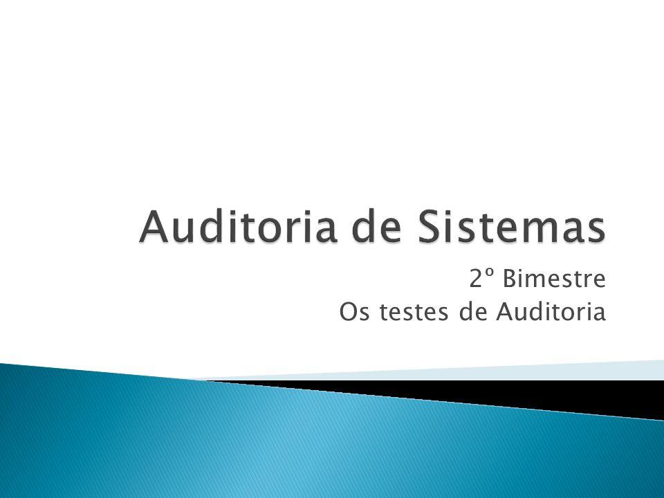 2º Bimestre Os testes de Auditoria