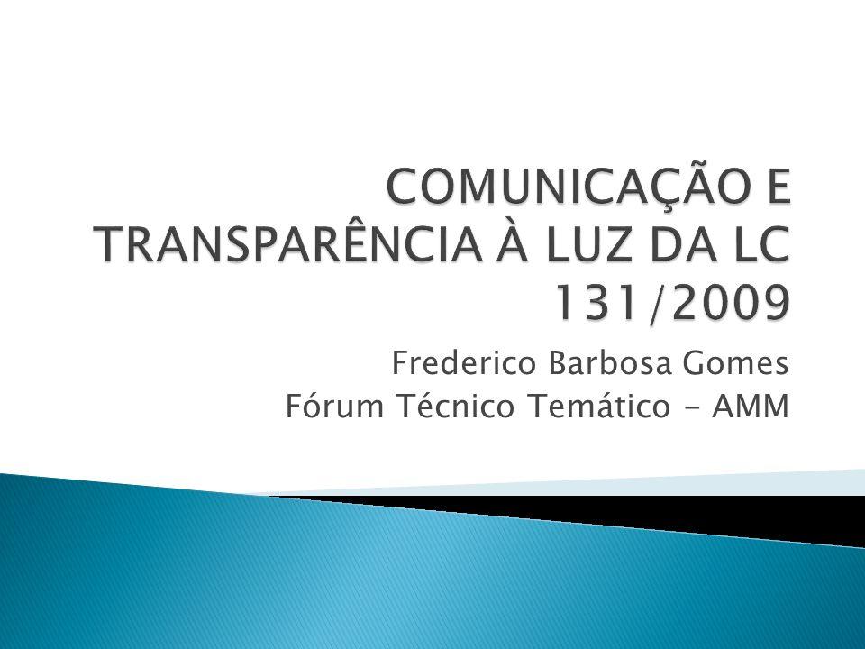 Frederico Barbosa Gomes Fórum Técnico Temático - AMM
