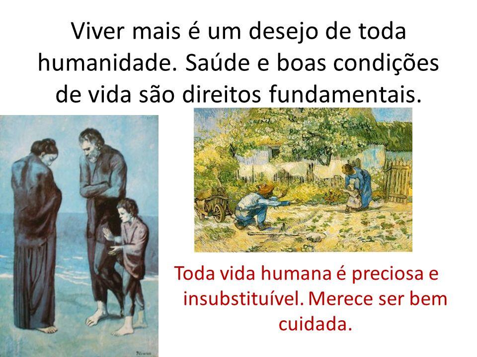 Viver mais é um desejo de toda humanidade. Saúde e boas condições de vida são direitos fundamentais. Toda vida humana é preciosa e insubstituível. Mer