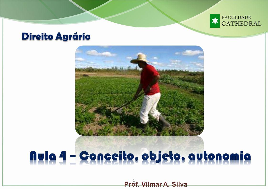 1 Prof. Vilmar A. Silva Direito Agrário