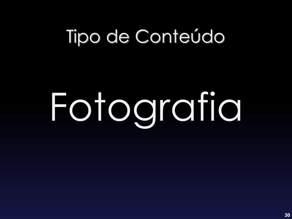 30 Tipo de Conteúdo Fotografia