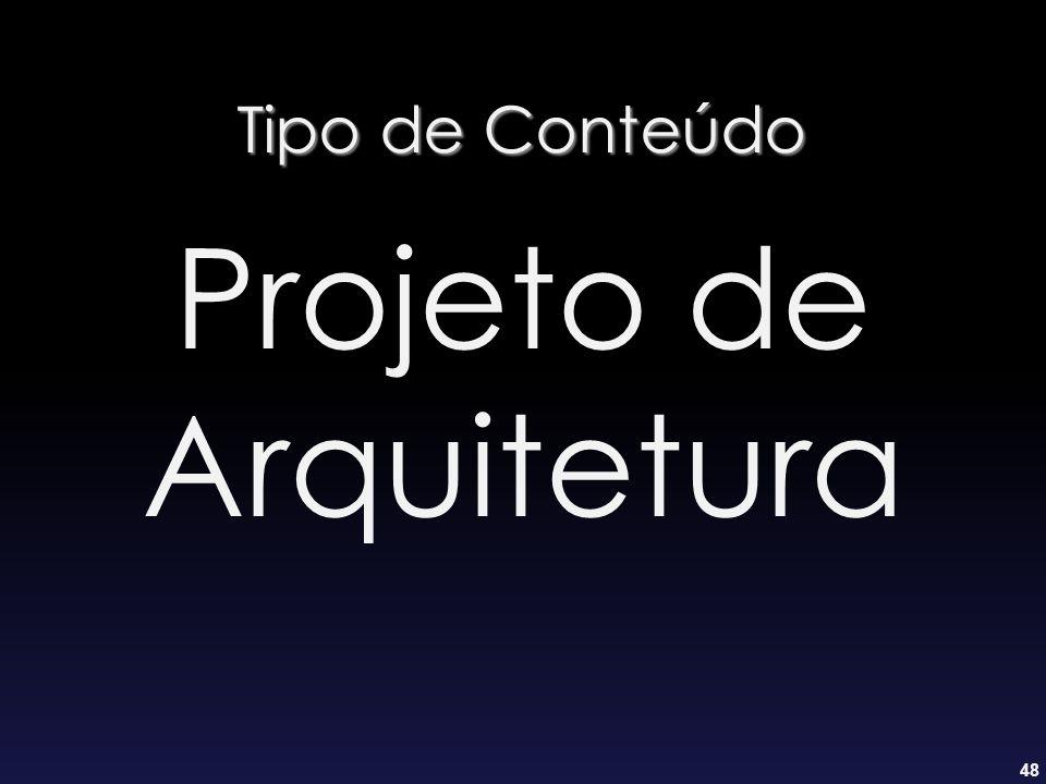 48 Tipo de Conteúdo Projeto de Arquitetura
