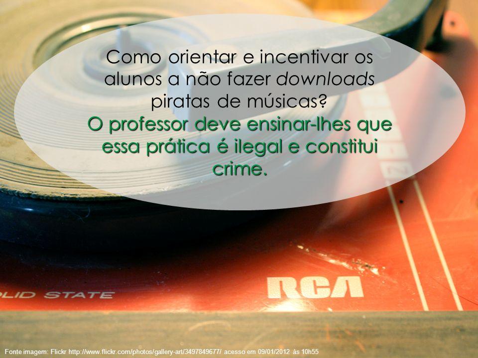 54 Fonte imagem: Flickr http://www.flickr.com/photos/gallery-art/3497849677/ acesso em 09/01/2012 às 10h55 Como orientar e incentivar os alunos a não
