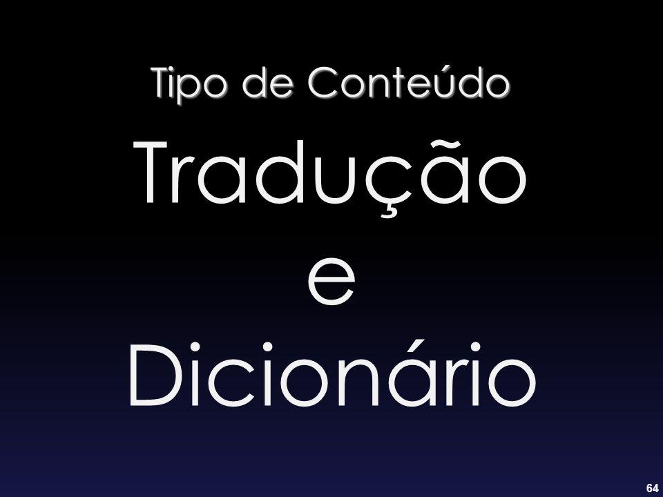 64 Tipo de Conteúdo Tradução e Dicionário
