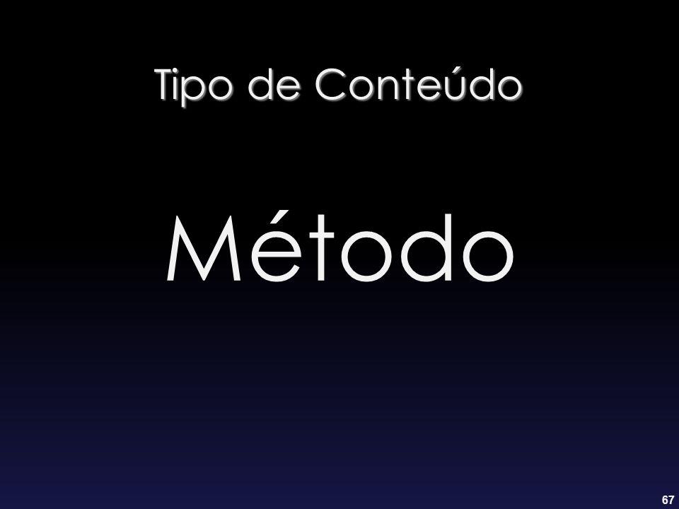 67 Tipo de Conteúdo Método